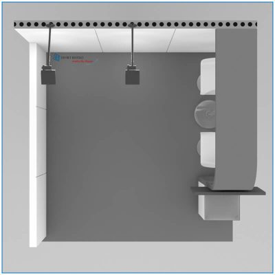10x10 Trade Show Booth Rental - Package 100 - Top Down View - Rendering - LV Exhibit Rentals