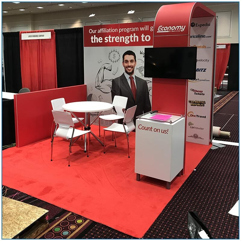 10x10 Booth Rental Package 100 - Economy Cars
