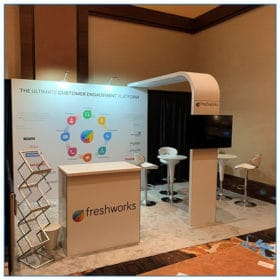 10x10 Freshworks - Variation of Trade Show Booth Rental Package 100 - LV Exhibit Rentals in Las Vegas