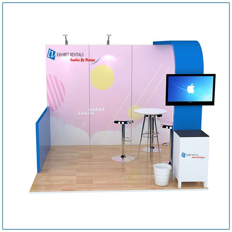 10x10 Trade Show Booth Rental Package 100 - Front View - LV Exhibit Rentals in Las Vegas