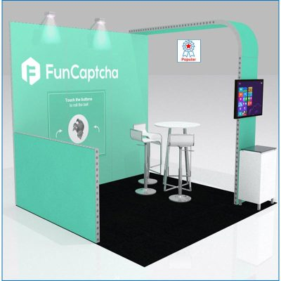 10x10 Trade Show Booth Rental Package 100 - LV Exhibit Rentals in Las Vegas