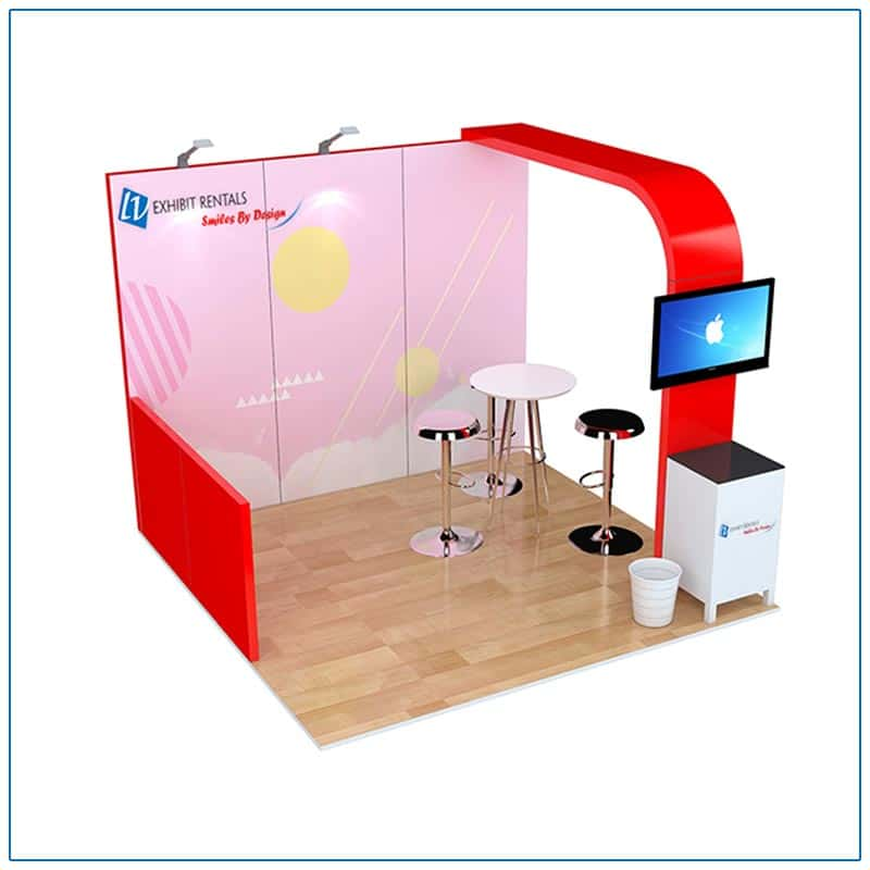 10x10 Trade Show Booth Rental Package 100 from LV Exhibit Rentals in Las Vegas