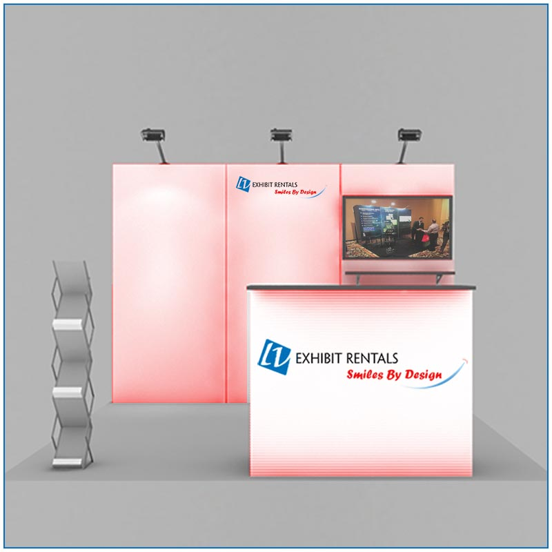 10x10 Trade Show Booth Rental Package 105 - Front View - LV Exhibit Rentals in Las Vegas