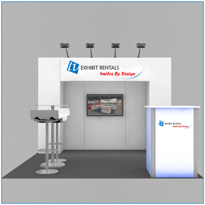 10x10 Package 101 - Front View - Trade Show Booth Rentals - LV Exhibit Rentals