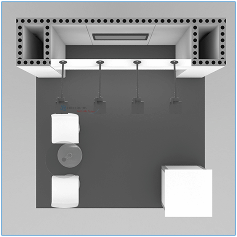 10x10 Package 101 - Top-Down View - Trade Show Booth Rentals - LV Exhibit Rentals