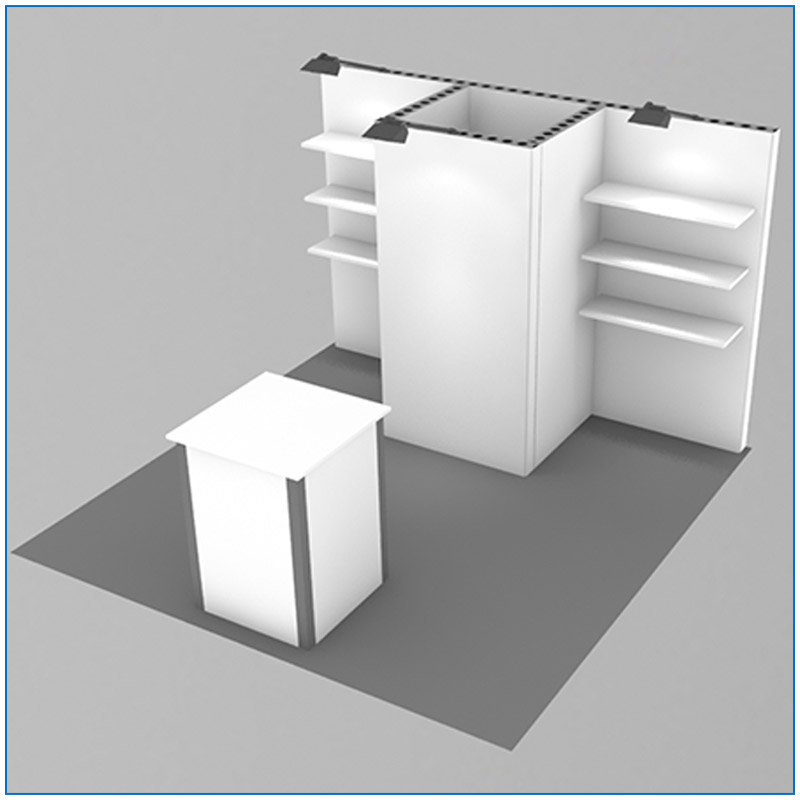 10x10 Package 102 Angle View - Trade Show Booth Rentals Las Vegas - LV Exhibit Rentals