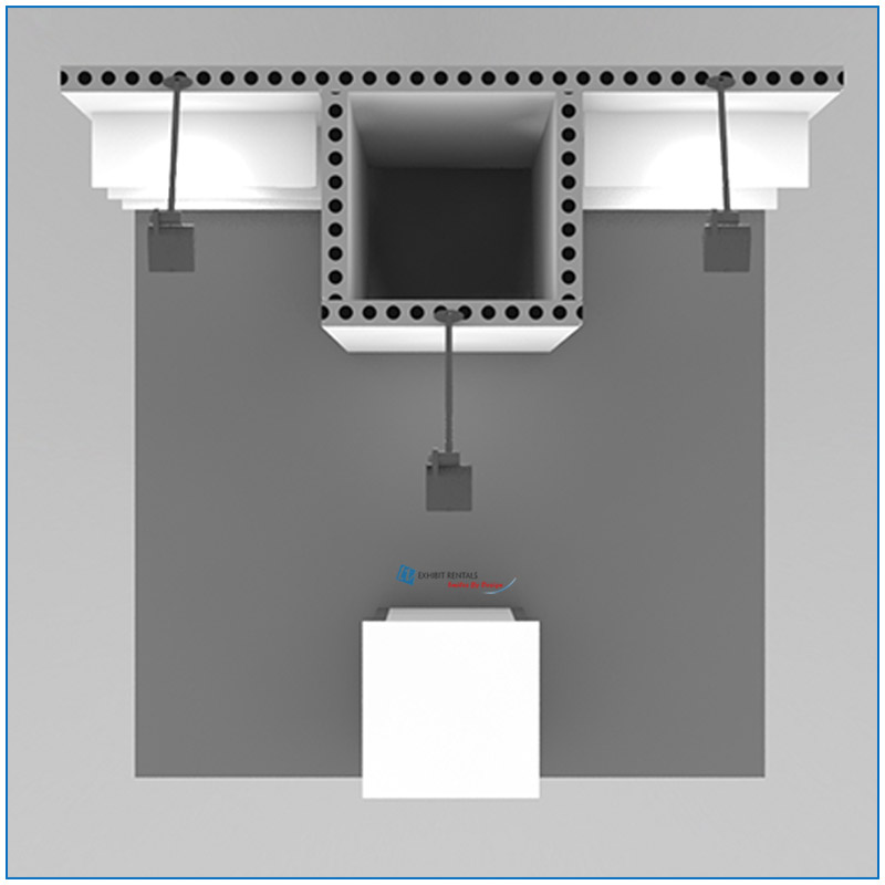 10x10 Package 102 Top Down View - Trade Show Booth Rentals Las Vegas - LV Exhibit Rentals