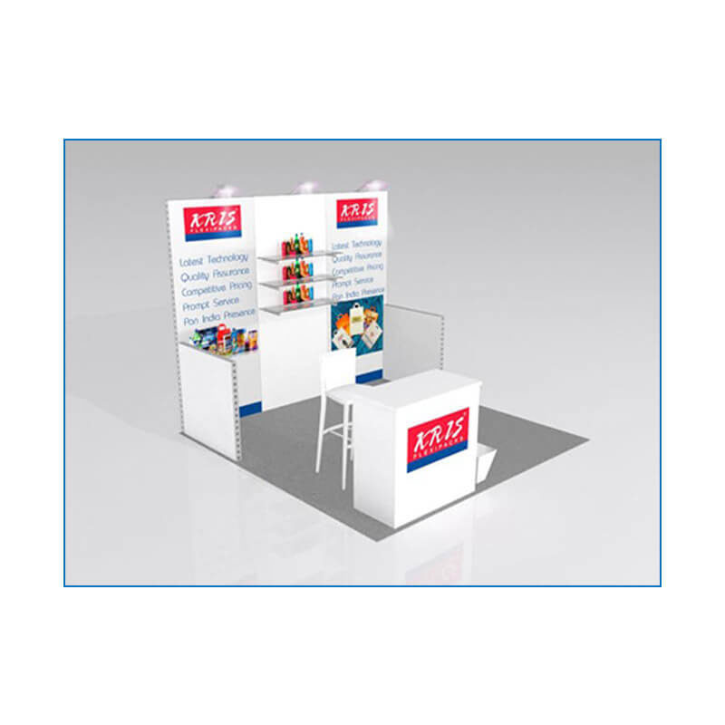 10x10 Package 103 - Angle View - Trade Show Booth Rental Las Vegas - LV Exhibit Rentals