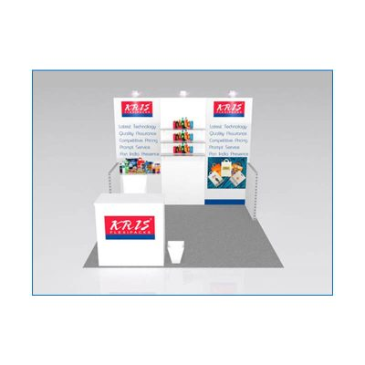 10x10 Package 103 - Front View - Trade Show Booth Rental Las Vegas - LV Exhibit Rentals