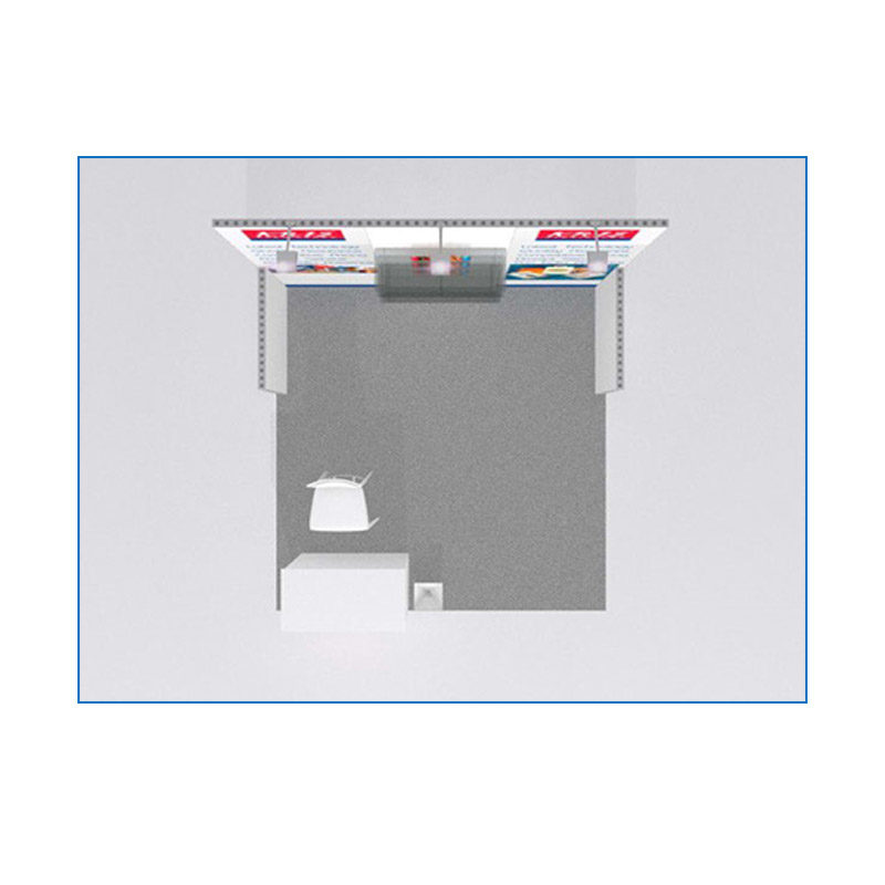 10x10 Package 103 - Top-Down View - Trade Show Booth Rental Las Vegas - LV Exhibit Rentals