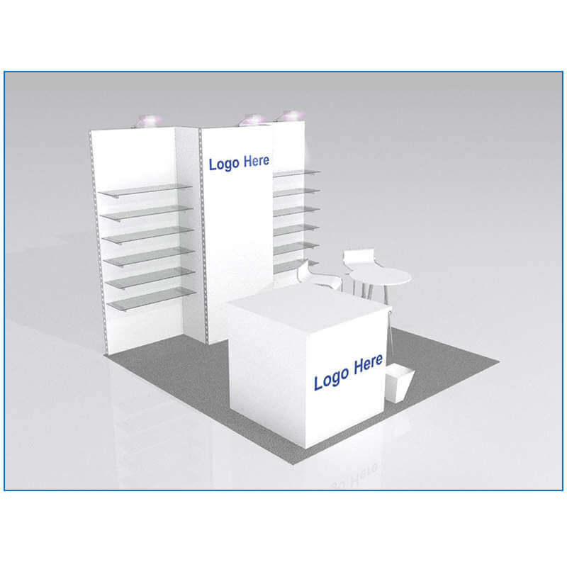 10x10 Package 104 - Angle - Trade Show Booth Rentals Las Vegas - LV Exhibit Rentals