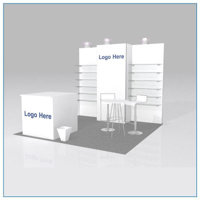 10x10 Package 104 - Trade Show Booth Rentals Las Vegas - LV Exhibit Rentals