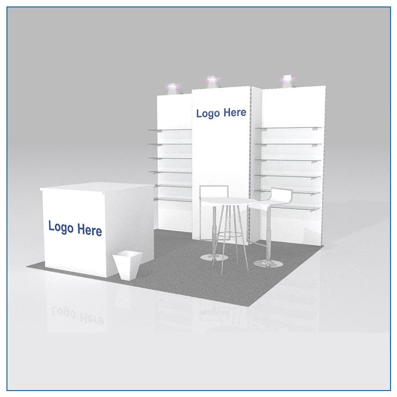 10x10 Package 104 - Trade Show Booth Rentals Las Vegas - LV Exhibit Rentals