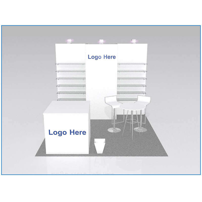 10x10 Package 104 - Front - Trade Show Booth Rentals Las Vegas - LV Exhibit Rentals