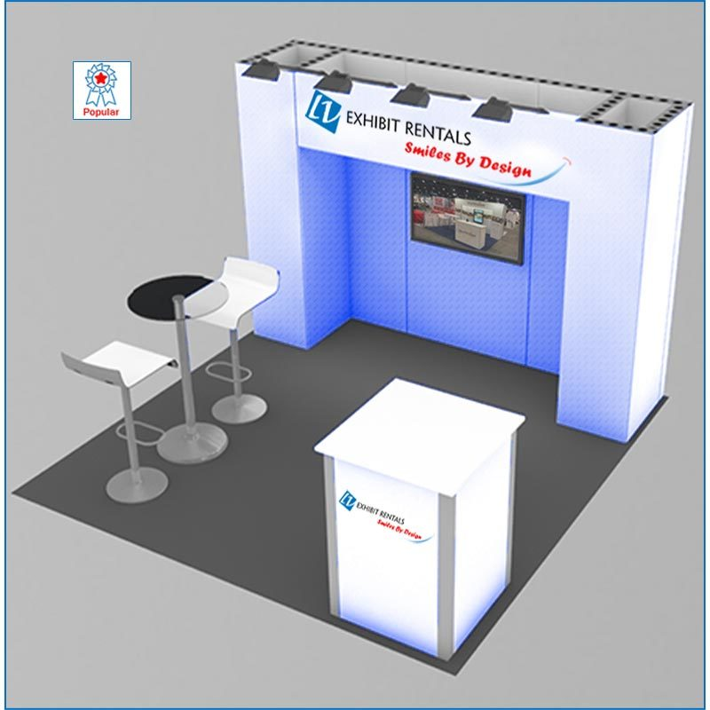 10x10 Trade Show Booth Rental Package 101 - LV Exhibit Rentals in Las Vegas