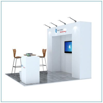 10x10 Trade Show Booth Rental Package 101 - Side View - LV Exhibit Rentals in Las Vegas