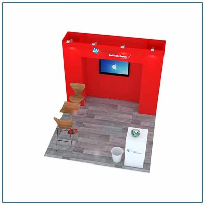 10x10 Trade Show Booth Rental Package 101 - Top-Down View - LV Exhibit Rentals in Las Vegas