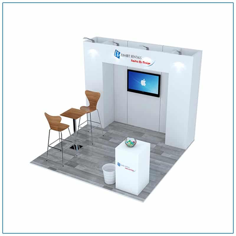 10x10 Trade Show Booth Rental Package 101 from LV Exhibit Rentals in Las Vegas