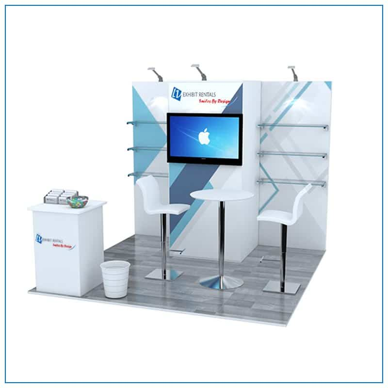 10x10 Trade Show Booth Rental Package 102 - Front View - LV Exhibit Rentals in Las Vegas