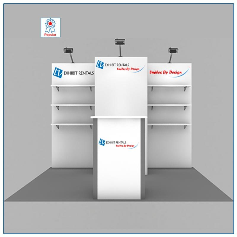 10x10 Trade Show Booth Rental Package 102 - LV Exhibit Rentals in Las Vegas