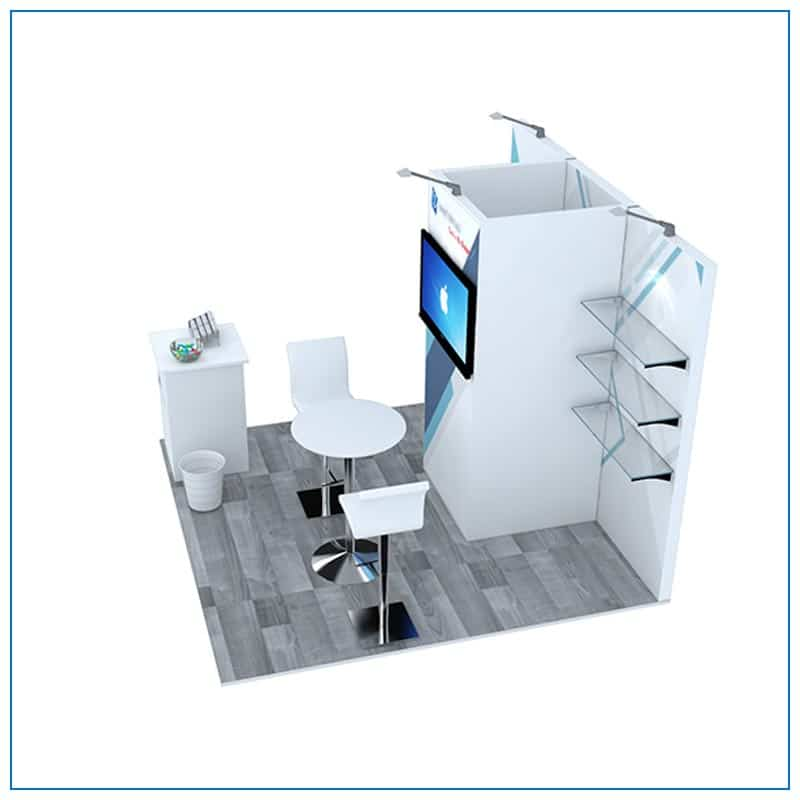 10x10 Trade Show Booth Rental Package 102 - Side View - LV Exhibit Rentals in Las Vegas