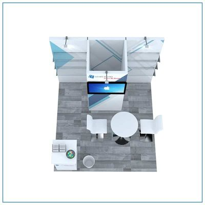10x10 Trade Show Booth Rental Package 102 - Top-Down View - LV Exhibit Rentals in Las Vegas