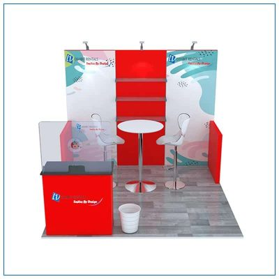 10x10 Trade Show Booth Rental Package 103 - Front View - LV Exhibit Rentals in Las Vegas