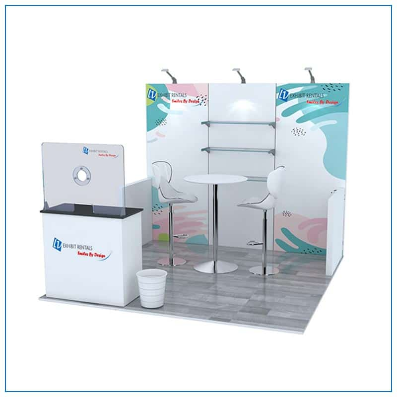 10x10 Trade Show Booth Rental Package 103 - LV Exhibit Rentals in Las Vegas