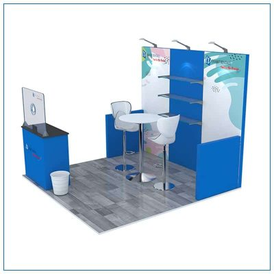 10x10 Trade Show Booth Rental Package 103 - Side View - LV Exhibit Rentals in Las Vegas