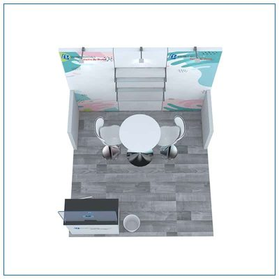 10x10 Trade Show Booth Rental Package 103 - Top-Down View - LV Exhibit Rentals in Las Vegas