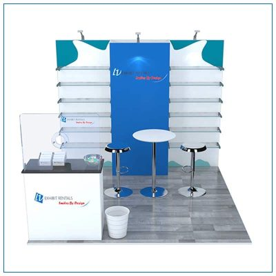 10x10 Trade Show Booth Rental Package 104 - Front View - LV Exhibit Rentals in Las Vegas