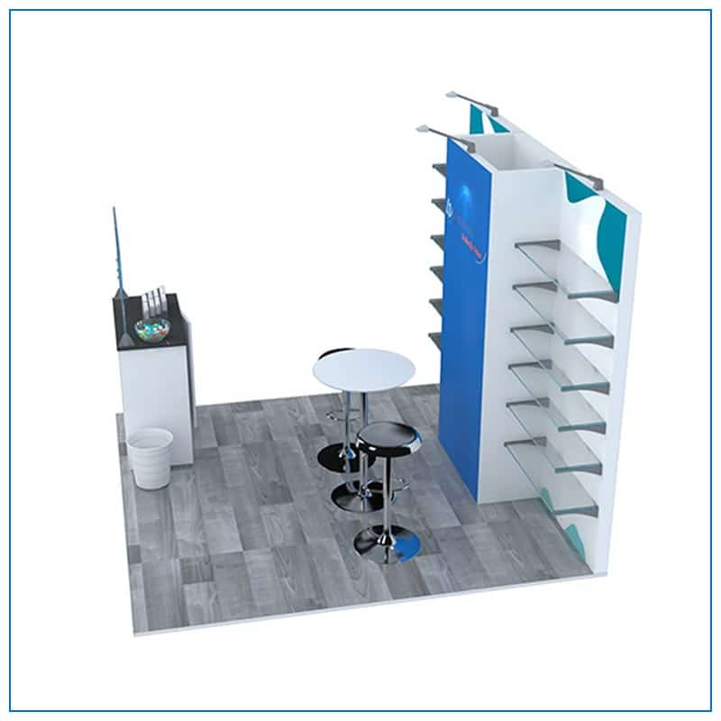 10x10 Trade Show Booth Rental Package 104 - Side View - LV Exhibit Rentals in Las Vegas