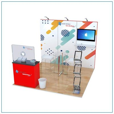10x10 Trade Show Booth Rental Package 105 - LV Exhibit Rentals in Las Vegas