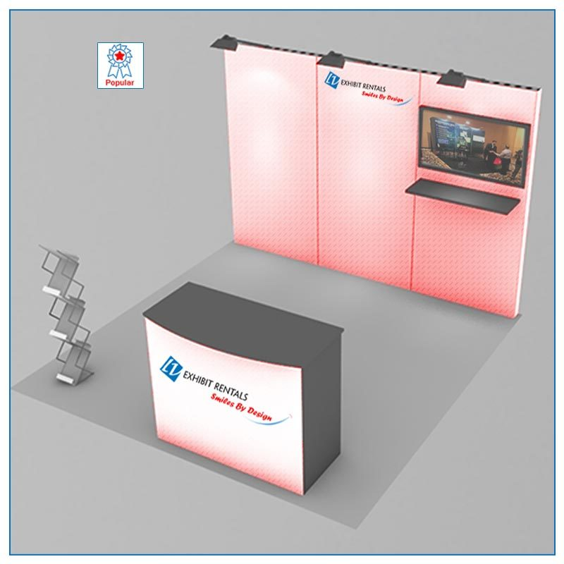 10x10 Trade Show Booth Rental Package 105 - LV Exhibit Rentals in Las Vegas