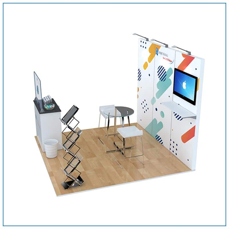 10x10 Trade Show Booth Rental Package 105 - Side View - LV Exhibit Rentals in Las Vegas