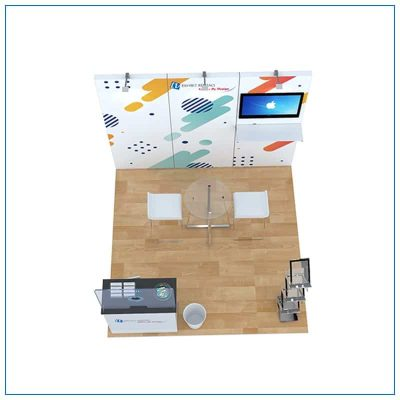 10x10 Trade Show Booth Rental Package 105 - Top-Down View - LV Exhibit Rentals in Las Vegas