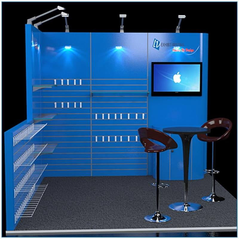 10x10 Trade Show Booth Rental Package 106 - Front View - LV Exhibit Rentals