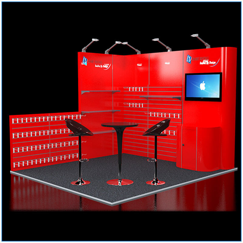 10x10 Trade Show Booth Rental Package 106 - LV Exhibit Rentals