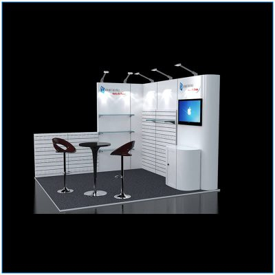 10x10 Trade Show Booth Rental Package 106 - Side View - LV Exhibit Rentals