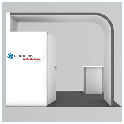 10x10 Trade Show Booth Rental Package 107 - Side View - LV Exhibit Rentals in Las Vegas