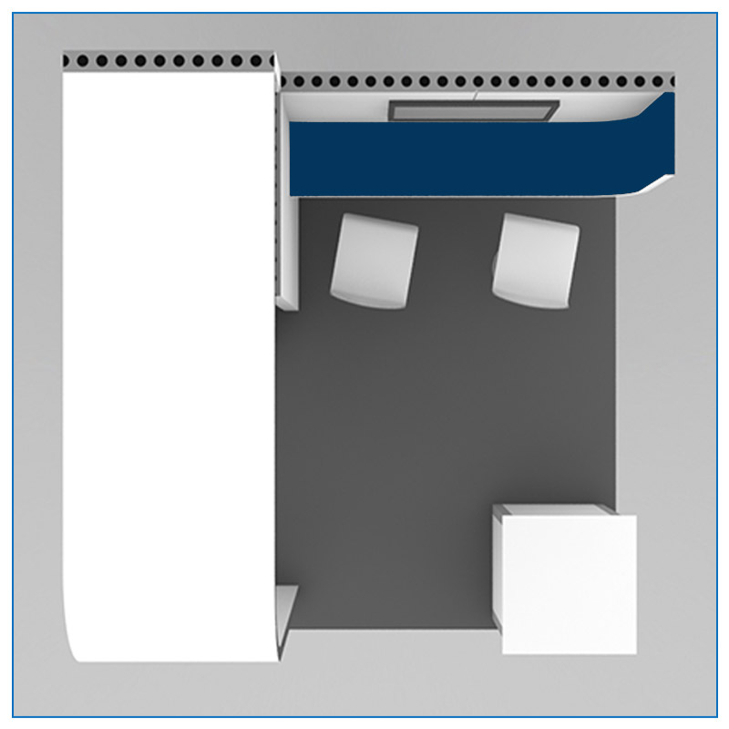 10x10 Trade Show Booth Rental Package 107 - Top-Down View - LV Exhibit Rentals in Las Vegas