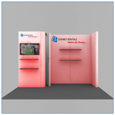 10x10 Trade Show Booth Rental Package 108 - Front View - LV Exhibit Rentals
