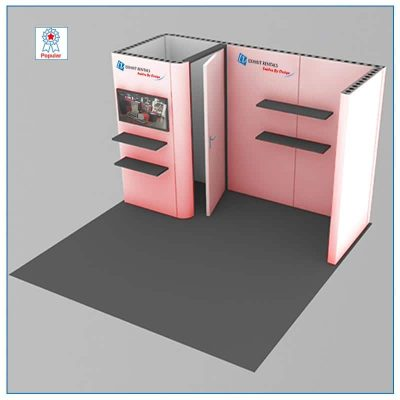 10x10 Trade Show Booth Rental Package 108 - LV Exhibit Rentals in Las Vegas