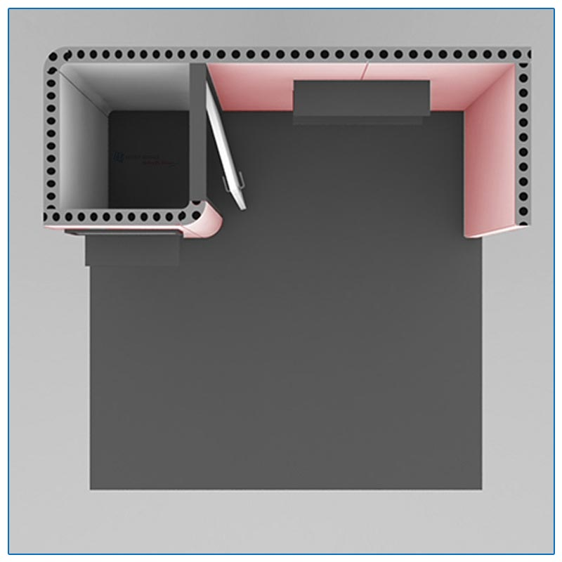 10x10 Trade Show Booth Rental Package 108 - Top-Down View