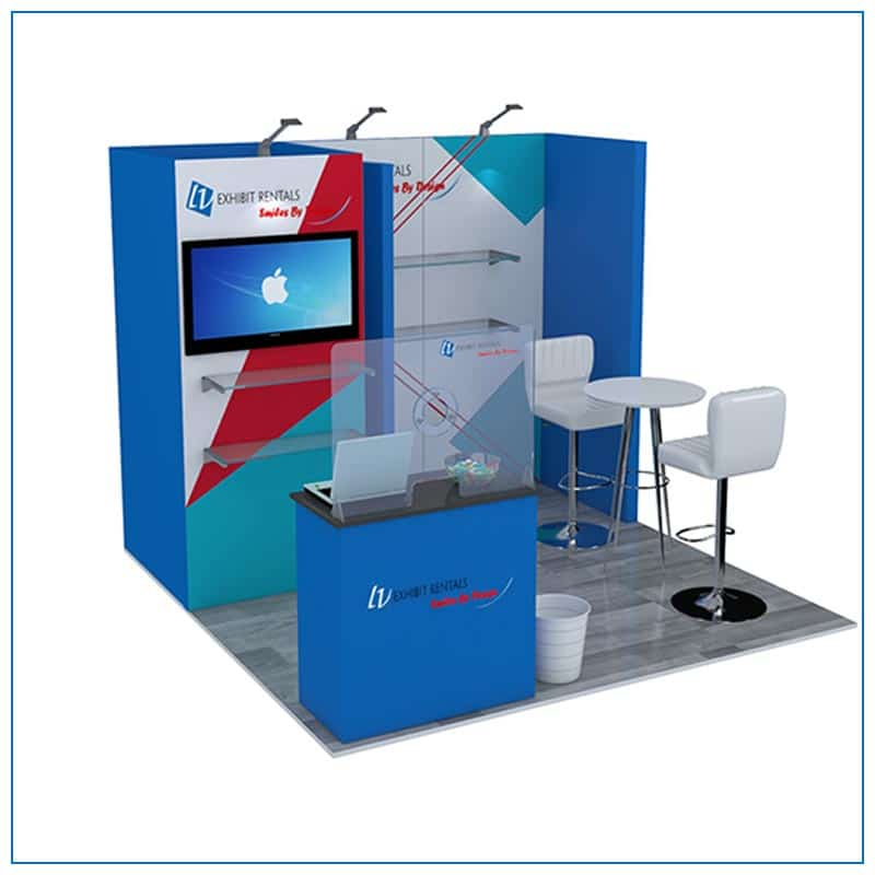 10x10 Trade Show Booth Rental Package 108 from LV Exhibit Rentals in Las Vegas - Angle View