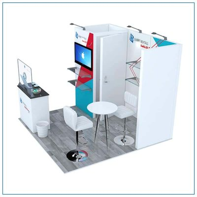 10x10 Trade Show Booth Rental Package 108 from LV Exhibit Rentals in Las Vegas - Side View