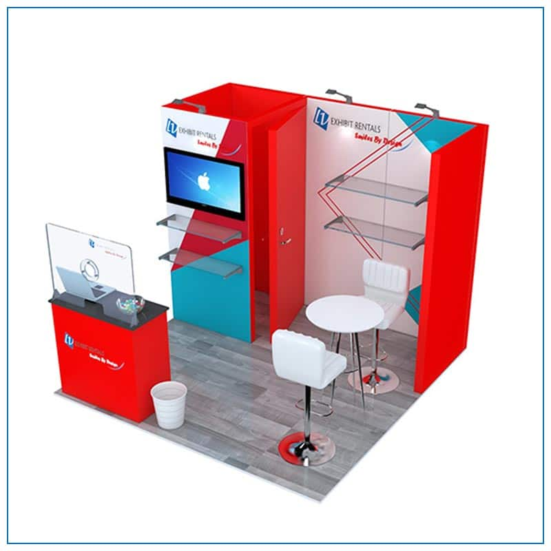 10x10 Trade Show Booth Rental Package 108 from LV Exhibit Rentals in Las Vegas