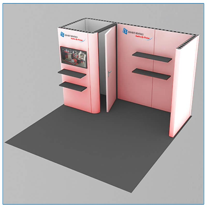 10x10 Trade Show Booth Rental Package 108 - LV Exhibit Rentals