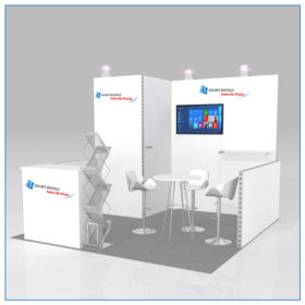 10x10 Trade Show Booth Rental Package 108A - LV Exhibit Rentals in Las Vegas