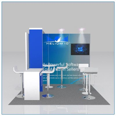 10x10 Trade Show Booth Rental Package 109 - Front View - LV Exhibit Rentals in Las Vegas
